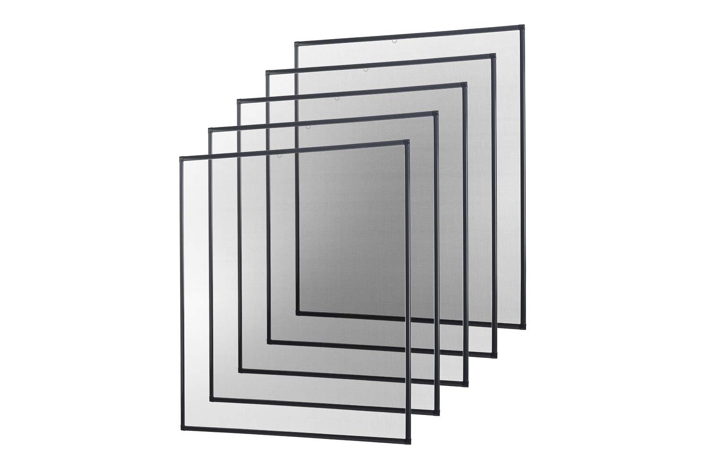 Insektenschutz Fliegengitter Fenster Alurahmen Basic weiß braun anthrazit, 120 x 140 cm 5er SET empasa