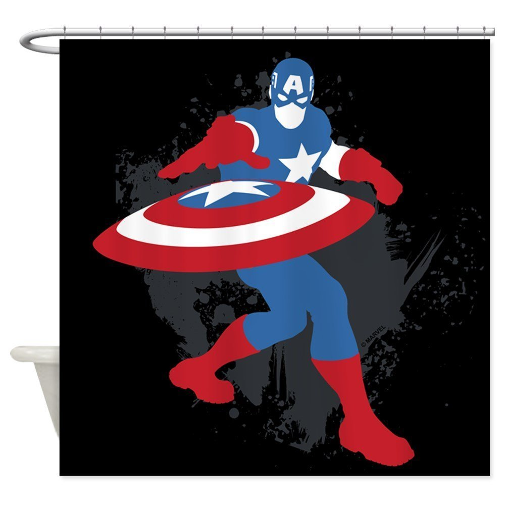 nuohaoshangmao Captain America Minimalist - Decorative Fabric Shower Curtain (60''x72'')