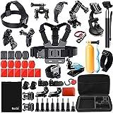 BAXIA TECHNOLOGY 44-in-1 Accessories Bundle Kit for GoPro HERO 5 Session 4 3+ 3 2 1 Black Silver SJ4000/5000/6000, Sports Camera Accessories for Xiaomi Yi/ AKASO/ WiMiUS/ Lightdow/ DBPOWER/ APEMAN/ Aokon/ ANART