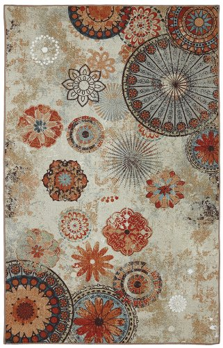 Mohawk Home Alexa Medallion Indoor/ Outdoor Printed Area Rug, 5'x8', Multicolor (5x8 Outdoor Rug)