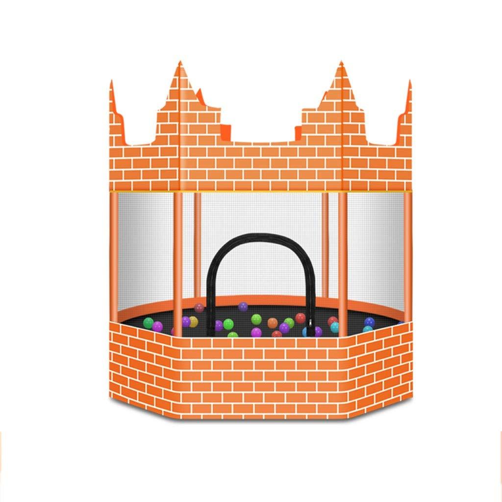 WZLDP Indoor-Baby-Schlagbett der Schlosstrampolin-Heimkinder, Robustes Rollen Nicht, Kindererwachsener mit Netzspielzeugspringen Faltbares Fitness-Trampolin