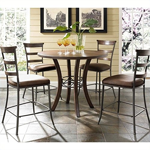 Hillsdale Furniture 5-Piece Counter Height Round Wood Dining Set