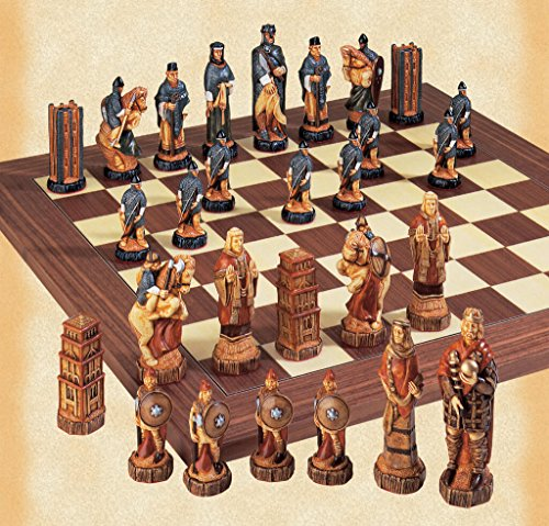 (The Battle of Hastings Hand Painted Chess Pieces)