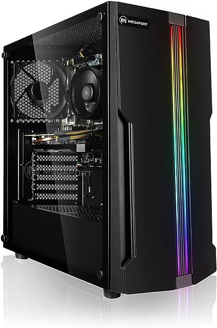 PC Gaming - Megaport Ordenador Gaming PC AMD Ryzen 7 3700X • GeForce GTX1650 4GB • 1000GB HDD • 480GB SSD • 16GB DDR4 2400 • WLAN • Windows 10 • PC ...