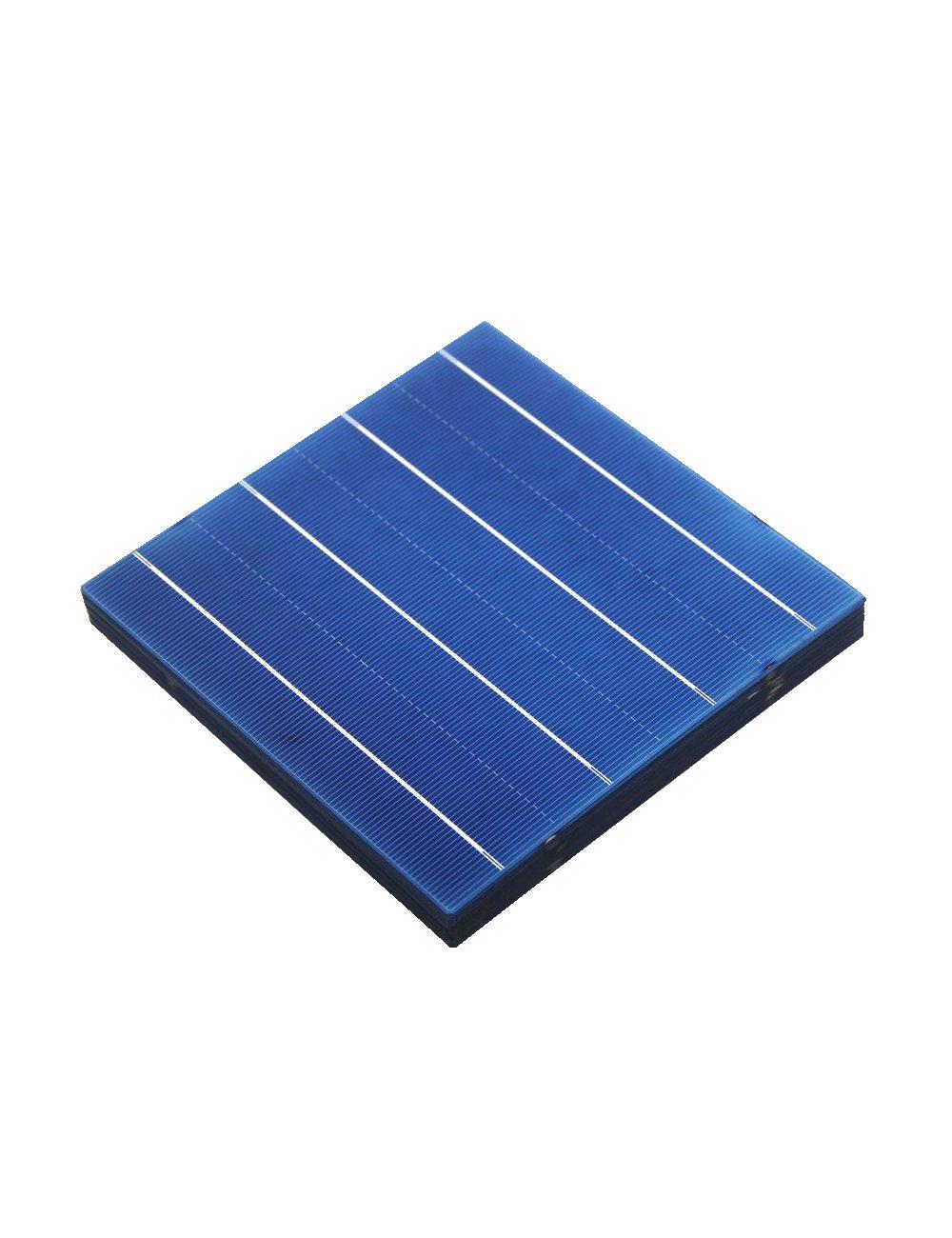 VIKOCELL 100 piezas 4.5W 18, 4% de eficiencia 156 x 156 mm fotovoltaica solar poli elementos de celda de 6x6 para el bricolaje sistema de paneles solares