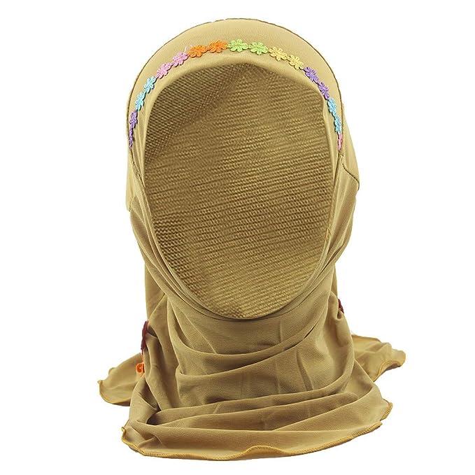 LOPILY Niño musulmán Stretch Turban Hat Chemo Cap Cabello Cabeza ...