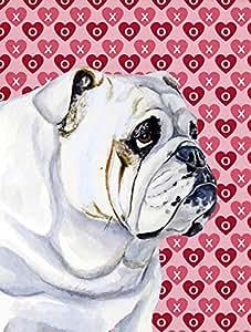 Caroline tesoros del lh9139gf Bulldog Inglés corazones amor San Valentín bandera, pequeña, Multicolor