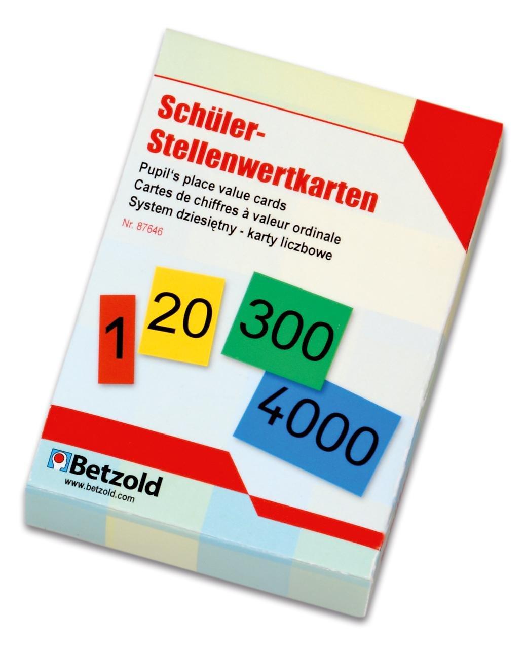 Betzold Stellenwert-Karten, von 0 - 9999 - Mathematik Rechnen Lernen ...