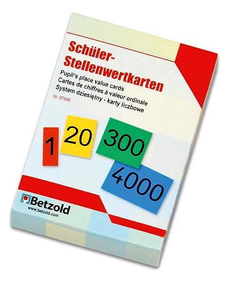 Betzold 87646 - Stellenwert-Karten von 0 - 9999 - Mathematik Rechnen ...
