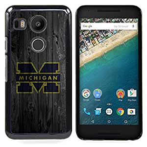 Machine M Football Caja protectora de pl??stico duro Dise?¡Àado King Case For LG Google Nexus 5X
