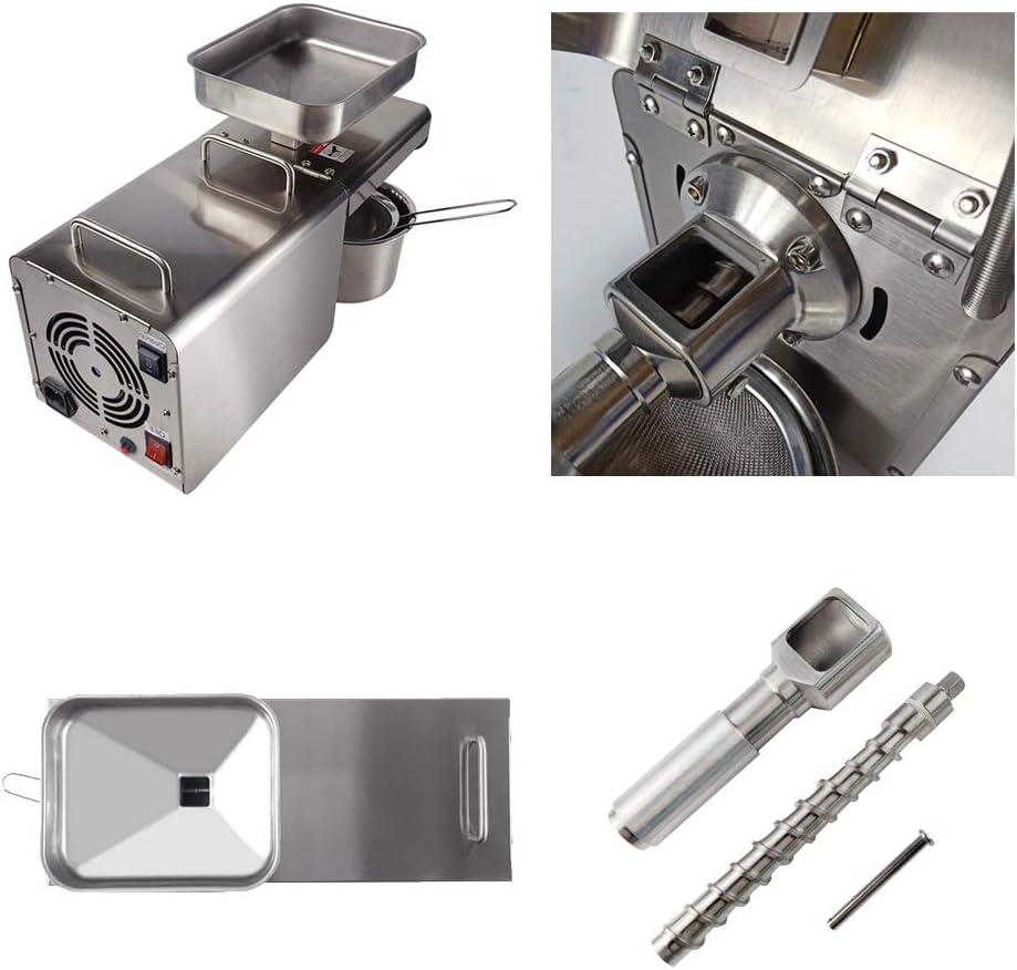 TAIMIKO M/áquina Prensa de Aceite 400W 3-6 kg//h Acero Inoxidable Alta extracci/ón para Aceite de Nuez y Colza 220v-240v CE