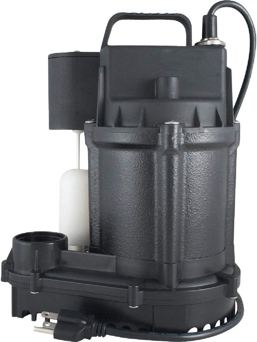 Flint Walling/Star 5SEH Cast Iron Submersible Sump Pump, 1/2hp
