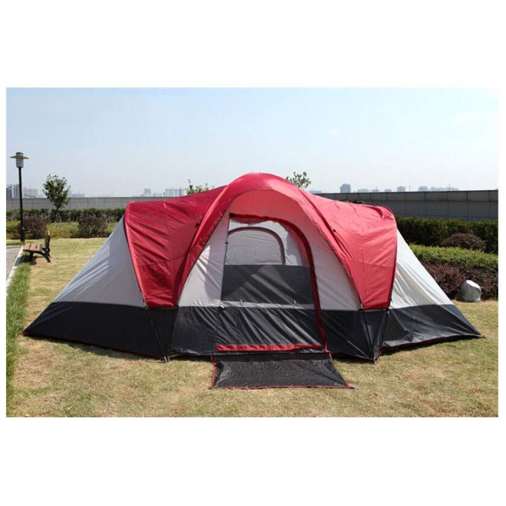 Zelt, 5-8 Personen Zelt für den Familienurlaub Großcamping-Zelte Zwei Zimmer und EIN Wohnzimmer Doppel-Lagen-Wasserdicht Travel Zelt