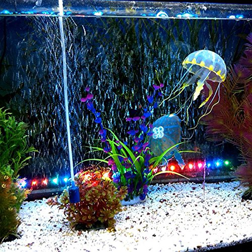 ... for Artificial Jellyfish Fish Aquarium Ornament 5CM // 5 colorean un juego para la medusa artificial decoración del acuario de pescado: Home & Kitchen
