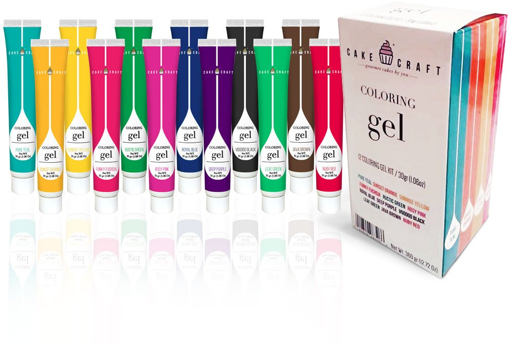 Cake Craft Coloring Gel Startup Kit