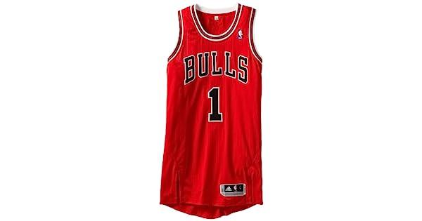 Amazon.com: NBA Chicago Bulls, color rojo Authentic Jersey ...