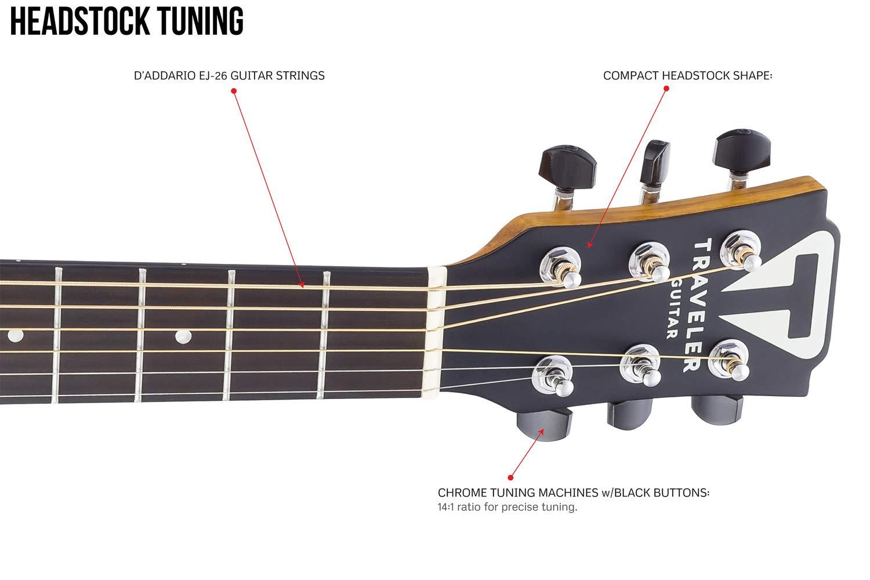 Traveler guitarra acústica de 6 cuerdas, derecha, natural (CS10 ...