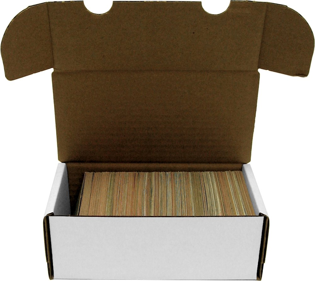 BCW 400 Count- Corrugated Cardboard Storage Box - Baseball, Football, Basketball, Hockey, Nascar, Sportscards, Gaming & Trading Cards Collecting Supplies 1-BX-400