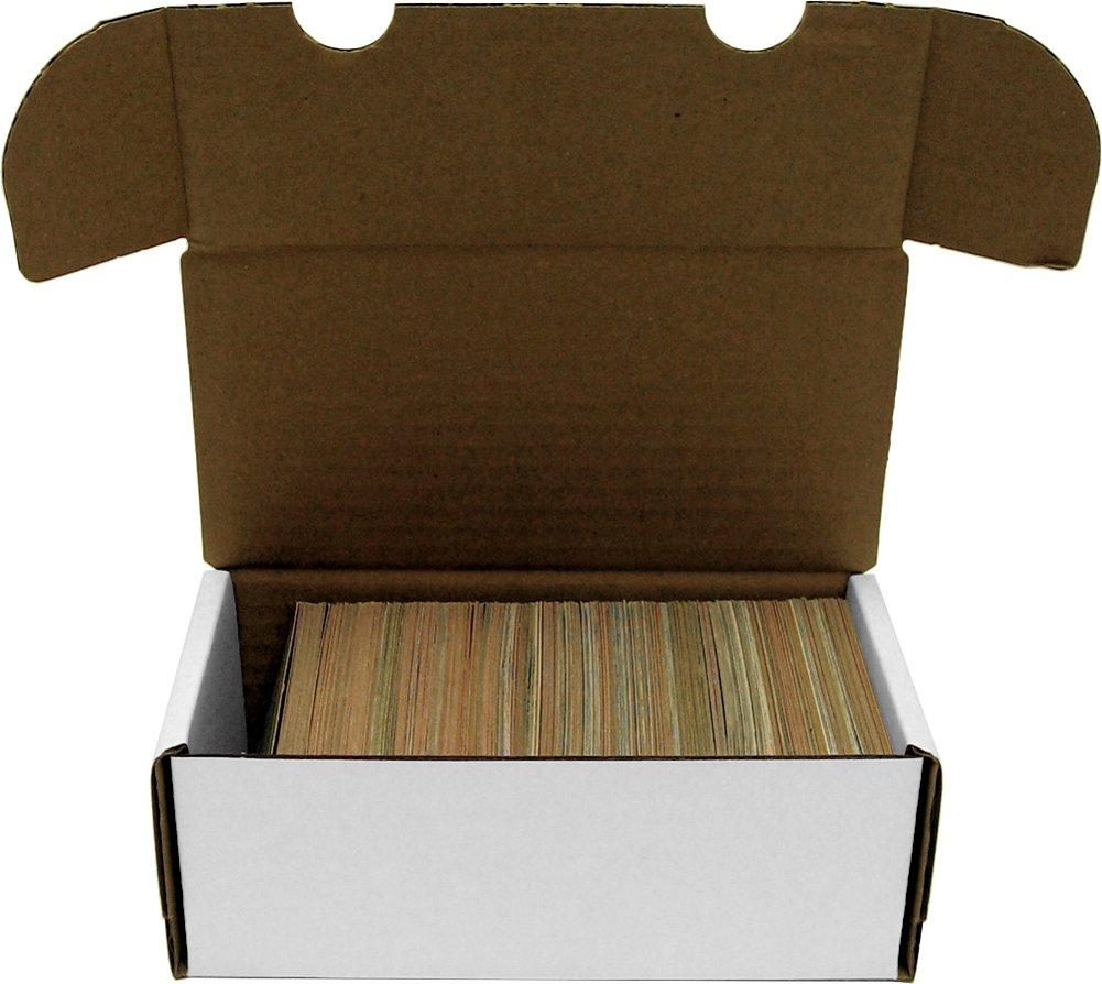 BCW 400 Count- Corrugated Cardboard Storage Box - Baseball, Football, Basketball, Hockey, Nascar, Sportscards, Gaming & Trading Cards Collecting Supplies 1-BX-400