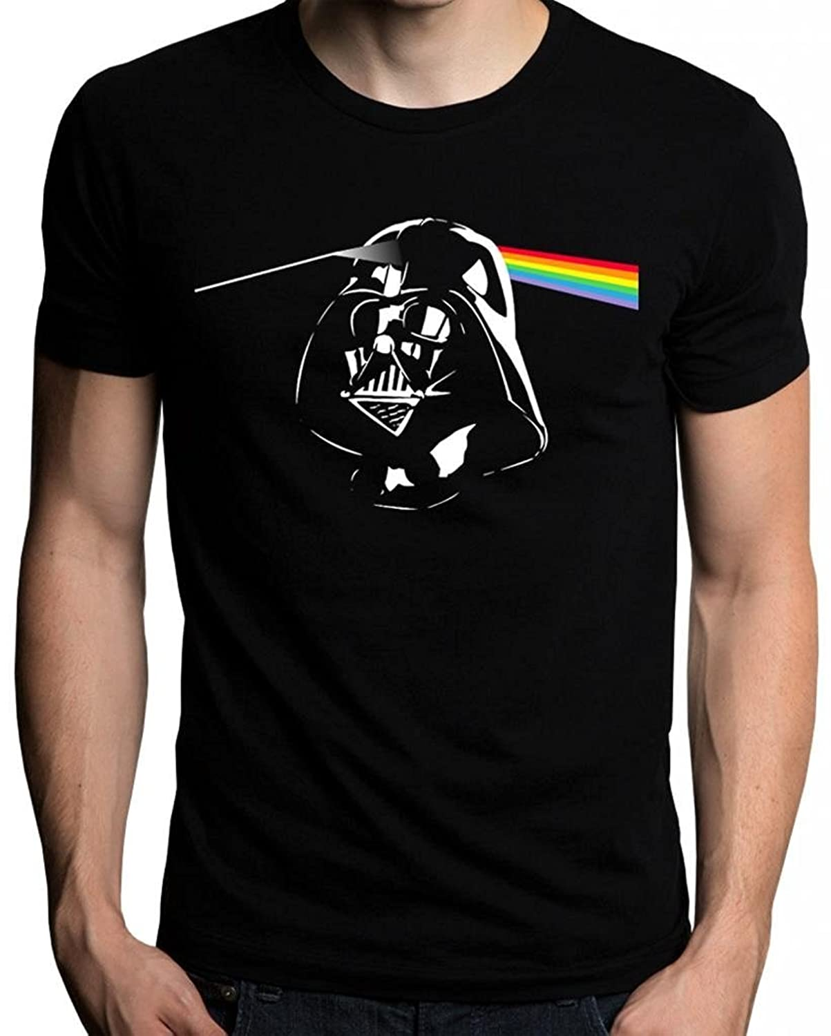 Amazon.com: The Nakin Funny Pink Floyd Darth Vader Dark Side Of The Moon Star Wars T-Shirt: Clothing