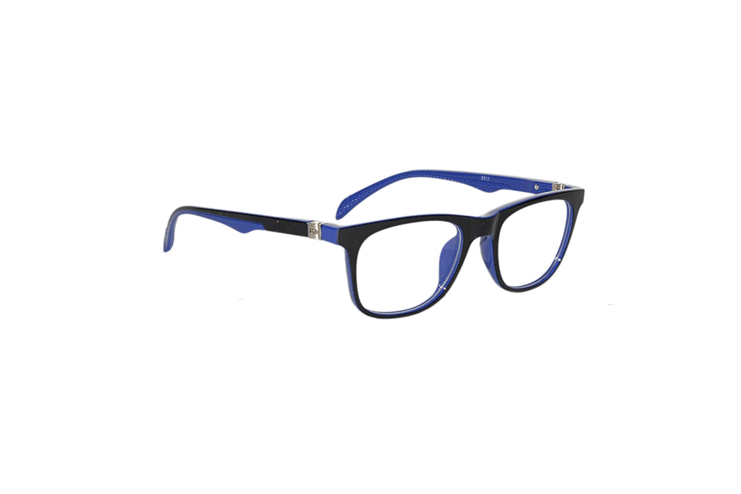 11d2a29de0 Peter Jones Black and Blue Unisex Square Optical Frame with Flexible  Temples (5912IBL)  Amazon.in  Clothing   Accessories