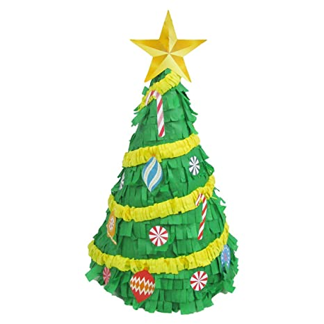 pinatas merry christmas tree centerpiece decoration party game candy holder - Merry Christmas Games