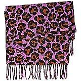 COACH womans 100% cashmere leopard print winter scarf
