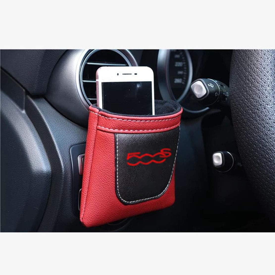 MNBX Air Vent Car Stow Tidy Borsa di stoccaggio per Fiat 500S Scatola di immagazzinaggio appesa in Pelle PU Accessorio per Auto