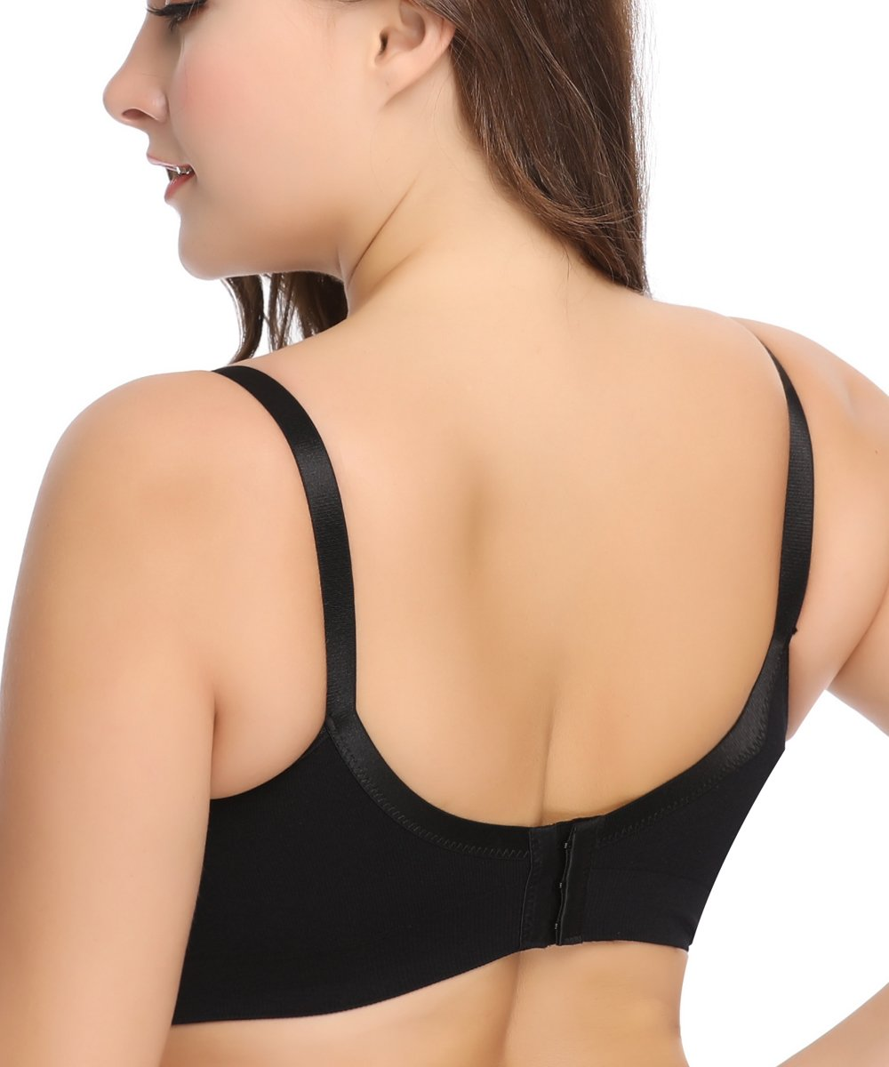 LYSHION 2-Pack Nursing Bra - Full Bust Seamless Nursing Maternity Breastfeeding Bras with High Elasticity and Width Adjustable