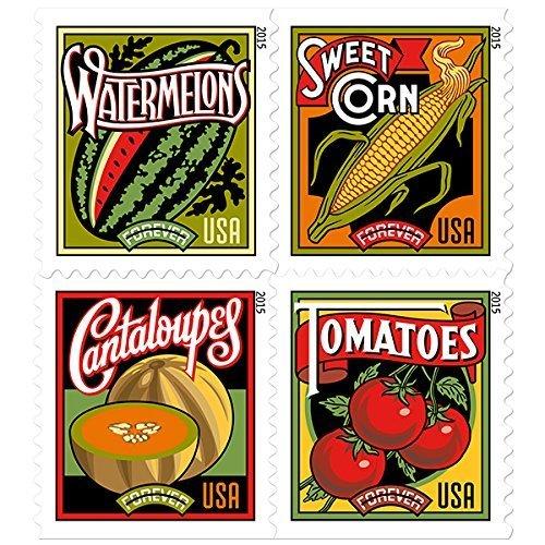 Summer Harvest Sheet of 20 x Forever US Postage Stamps ()