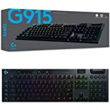 Logitech G915 Wireless Mechanical Gaming Keyboard (Tactile)