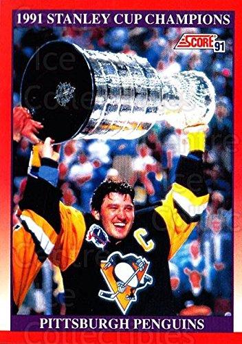 (CI) Mario Lemieux, Stanley Cup Hockey Card 1991-92 Score Canadian Bilingual 315 Mario Lemieux, Stanley Cup