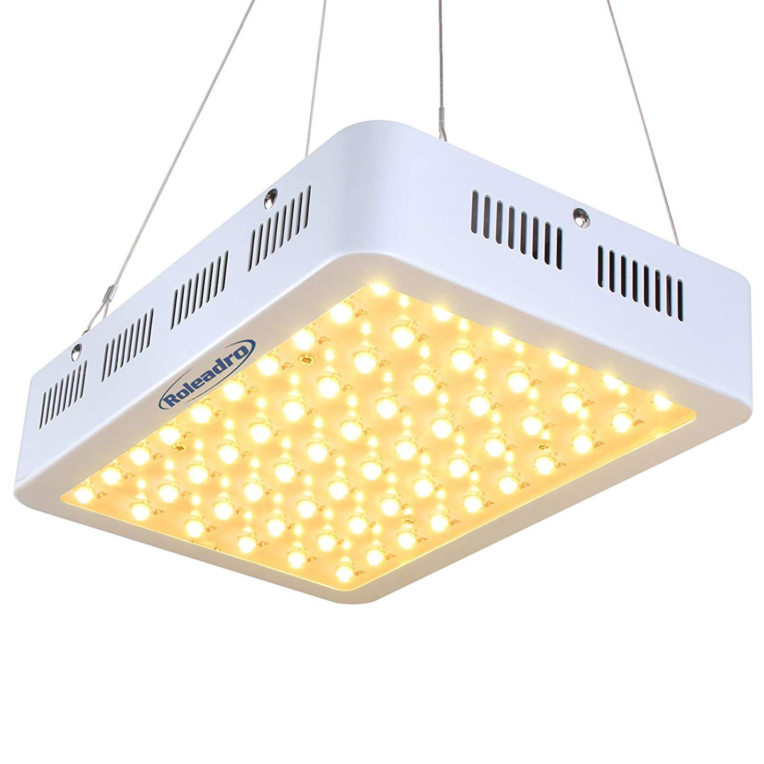 Roleadro 300W LED Grow Light 2nd Generation Series Plant Light with Full Spectrum for Indoor, Greenhouse, Hydroponics Veg and Bloom