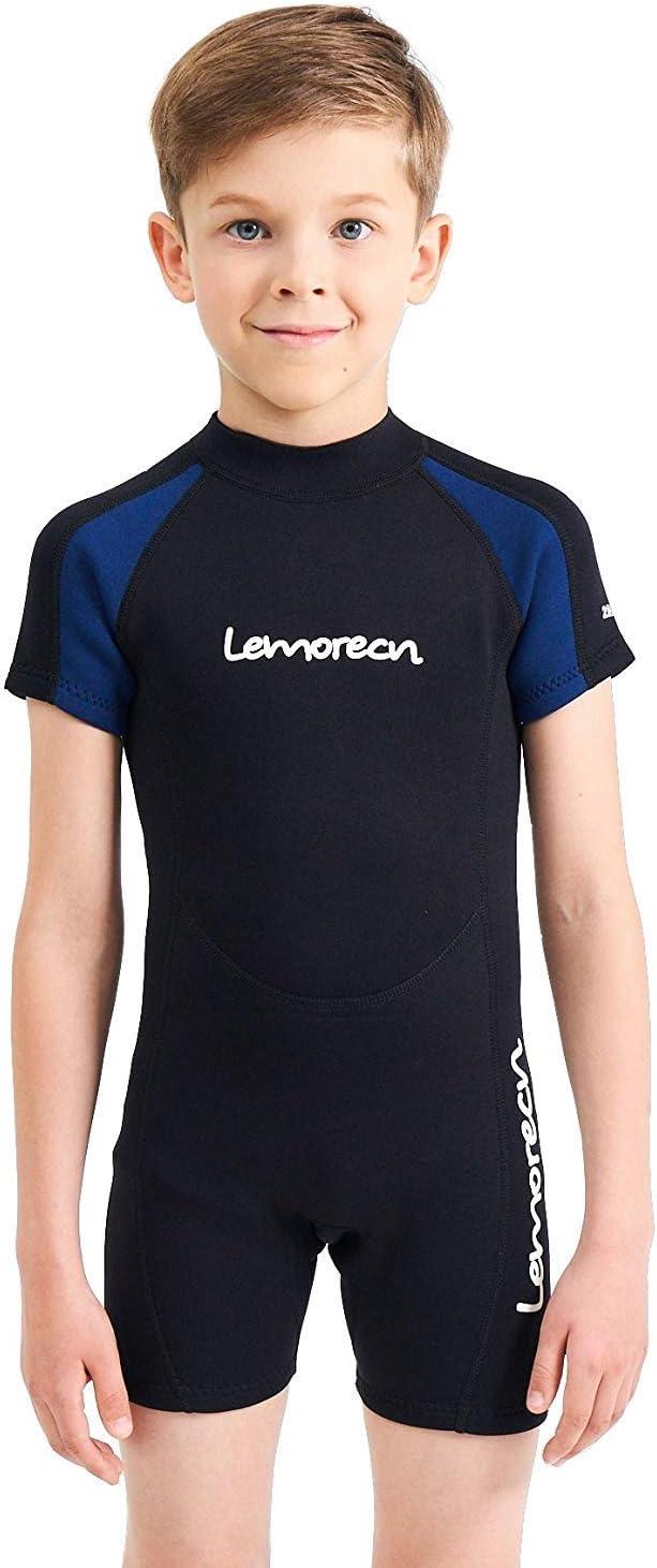 Lemorecn Kids Wetsuits Youth Premium Neoprene 2mm Youth s Shorty Swim Suits
