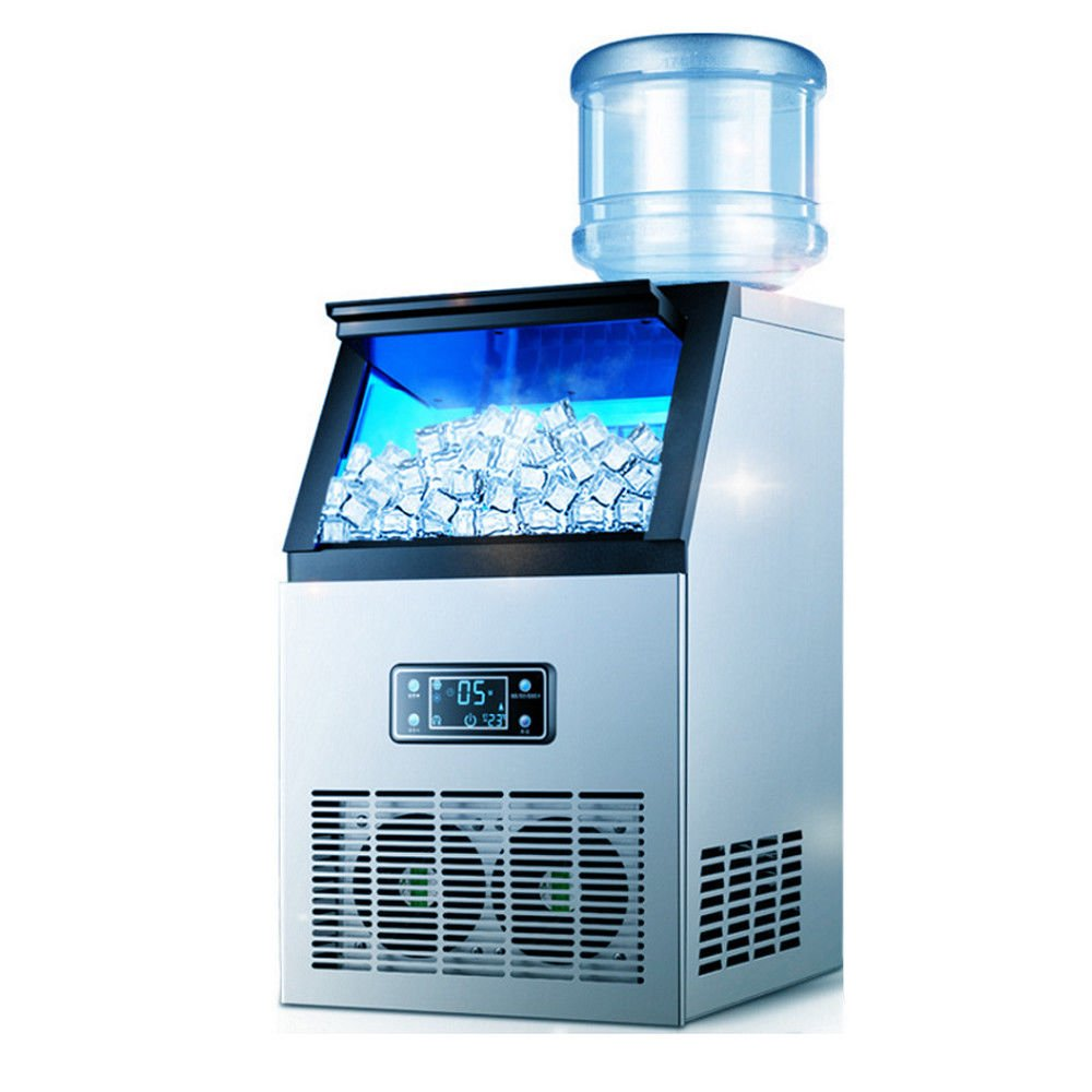 GDAE10 Portable Ice Cube Making Machine,Auto Commercial Ice Machine Stainless Steel 110 lbs Ice Cube Maker for Home, Offices, Schools & Commercial Use 110V (US Stock)