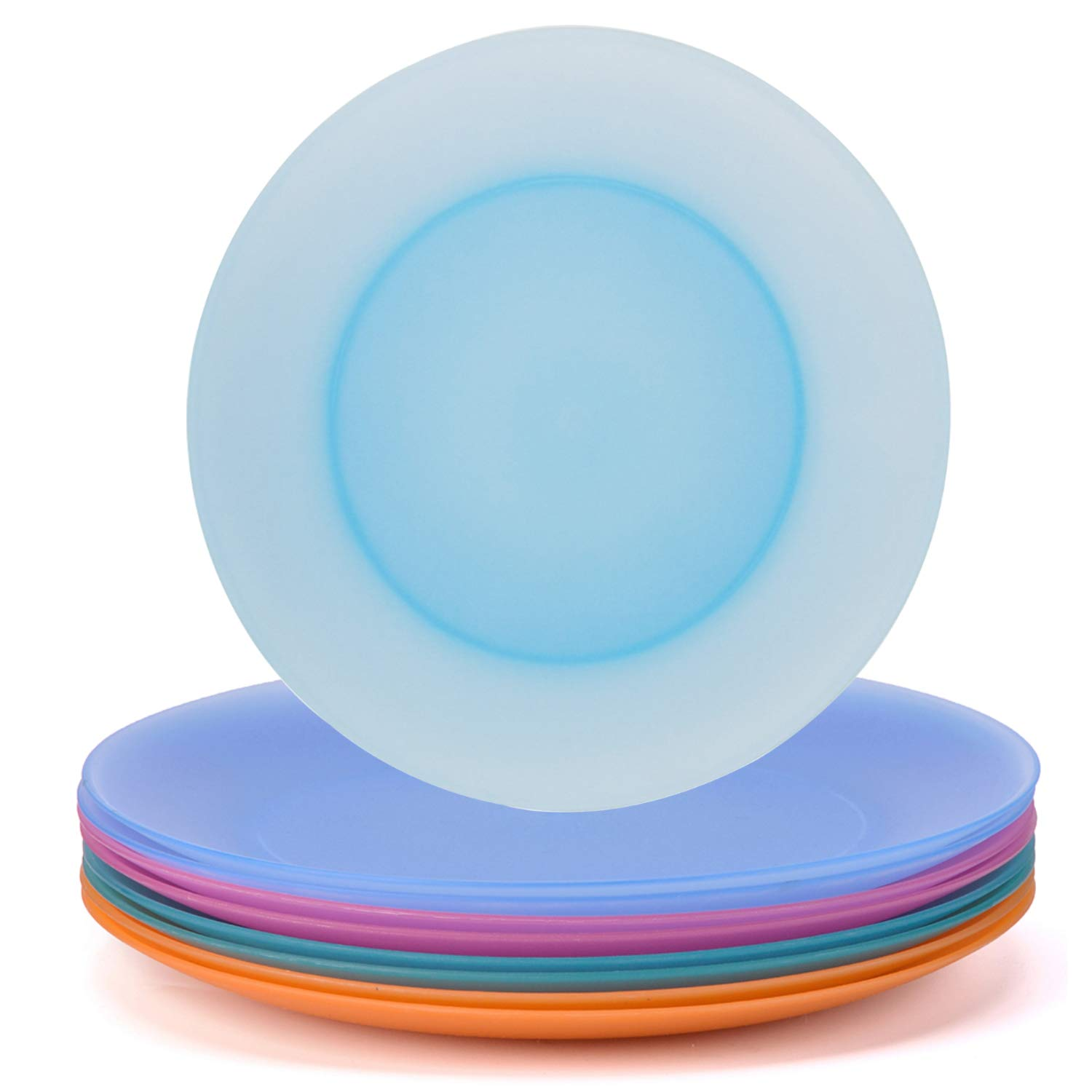 Plates Set of 8 in 4 Assorted Colors 10 Inch BPA