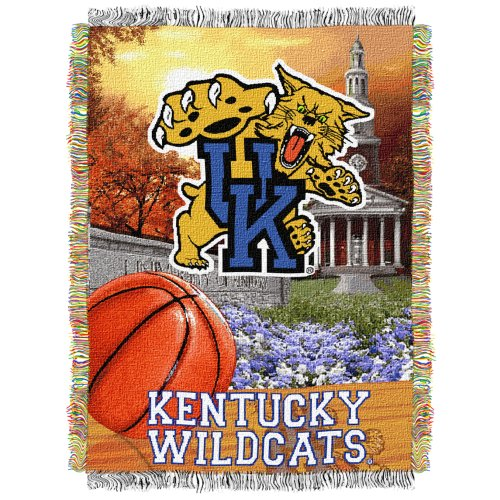 The Northwest Company Officially Licensed NCAA Kentucky Wilcats Home Field Advantage Woven Tapestry Throw Blanket, 48