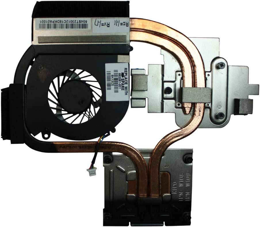 Power4Laptops Independent Video Card Version Replacement Laptop Fan with Heatsink for HP 682061-001, HP Pavilion dv6-7000, HP Pavilion DV6-7000ee, HP Pavilion DV6-7000ej, HP Pavilion DV6-7000se