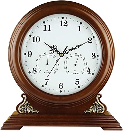 FCZH Relojes de repisa de Madera, Reloj de Mesa de Escritorio ...