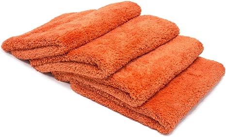 Super Plush Red Eagle Edgeless Microfiber Detailing Towel 500gsm 4 Pack