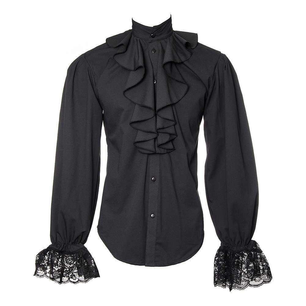 Camisa Golden Steampunk Dandy Ruffle (Negro) - xx-large: Amazon.es: Ropa y accesorios