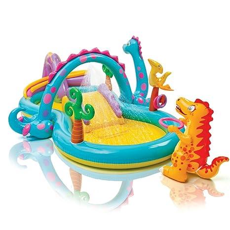 d9bb4fa26595 Gioco gonfiabile Intex Dinoland Play Center, con piscina e scivolo art  57135np