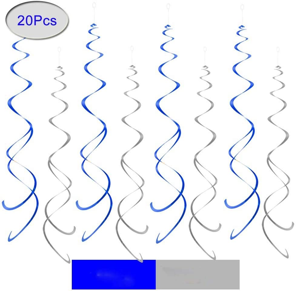 Foil Ceiling Hanging Swirl Decorations