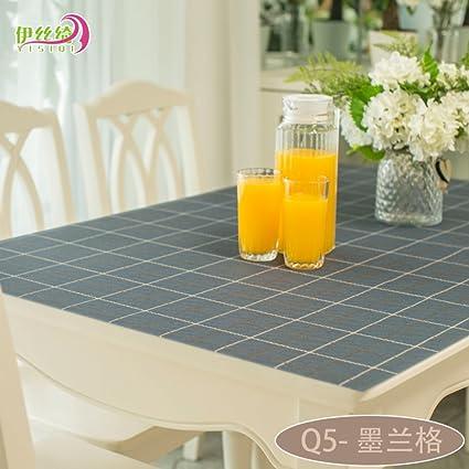 AMYDREAMSTORE Transparente Paño de tabla Cubierta protector Espesar Manteles Impermeable Anti-caliente Transparente Esteras de
