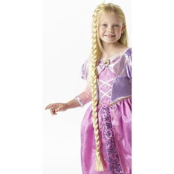 NET TOYS Trenza Rapunzel Disney Postizo Trenzado para Pegar Trenza postiza de Princesa coleta Rapunzel Larga
