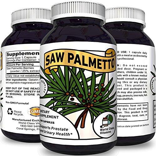 Pure Saw Palmetto Supplement for Prostate + Urinary Health – Prostate Care Capsules with Hair Loss Benefits - Support Men's Health Wellness – Natural Antioxidant Supplement For Men
