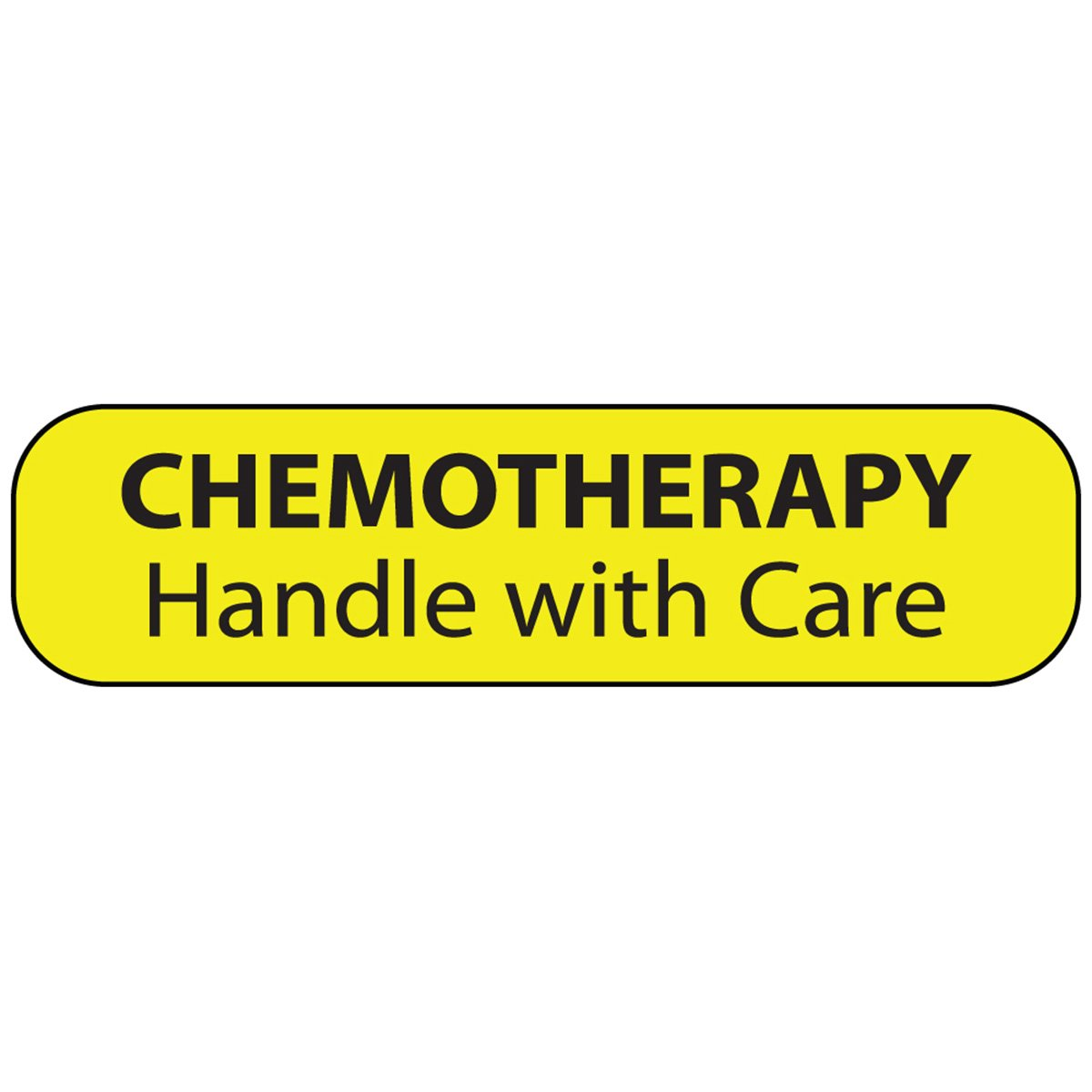 PDC Healthcare MV02SY2328 Label Paper, Permanent Chemotherapy Handle, 1'' Core, 1 7/16'' x 3/8'', Yellow (Pack of 666)