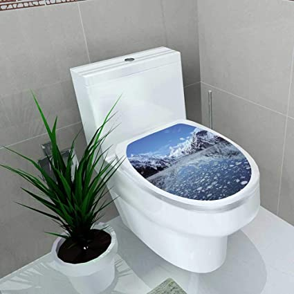 Swell Auraise Home Toilet Seat Sticker The Glacier Bay Of Alaskan California Waterproof Decorative Toilet Cover Stickers W8 X L11 Dailytribune Chair Design For Home Dailytribuneorg