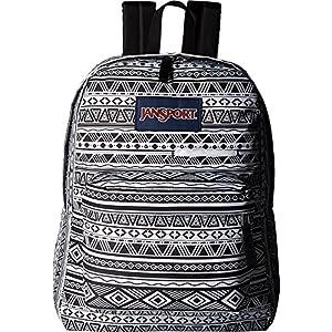 JanSport Digibreak Laptop Backpack (Black / White Jazzy Geo)