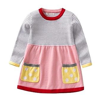 Peng Sounded Weiche Kleidung Des Mädchens Mädchen Streifen Pullover